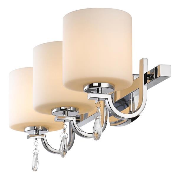 Golden Lighting Evette 3-Light Bathroom Vanity Light - Chrome