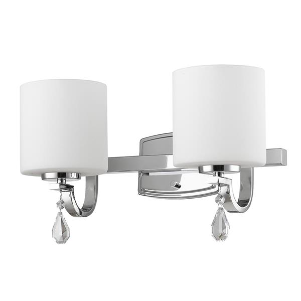 Golden Lighting Evette 2 Light Bathroom Vanity Light Chrome Rona
