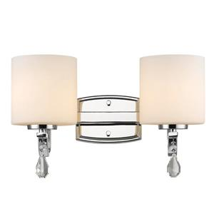 Golden Lighting Evette 2-Light Bathroom Vanity Light - Chrome