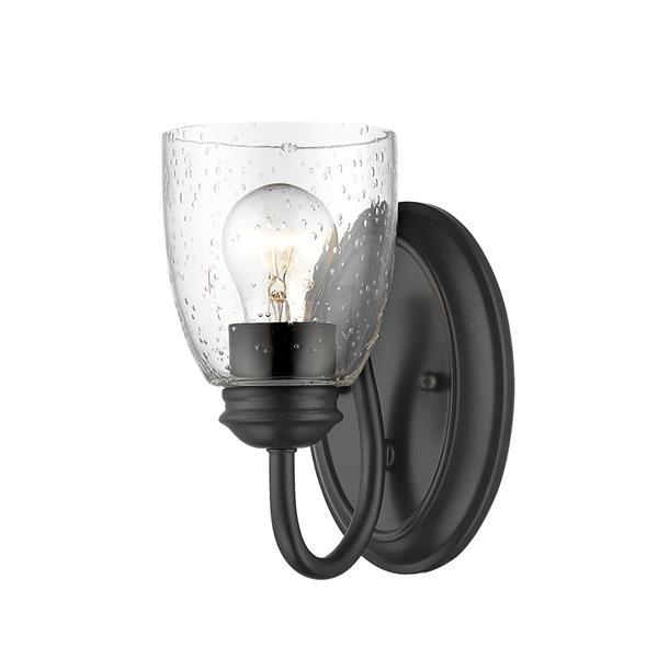 Golden Lighting Parrish 1-Light Bathroom Vanity Light - Black