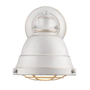 Golden Lighting Bartlett FW 1-Light Bathroom Vanity Light - French White