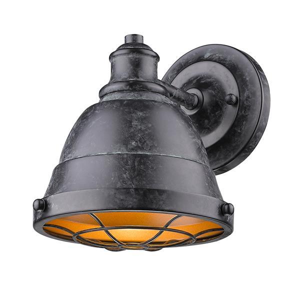 Golden Lighting Bartlett BP 1-Light Bathroom Vanity Light - Black