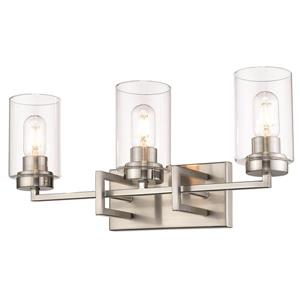 Tribeca 3-Light Bathroom Vanity Light - Pewter