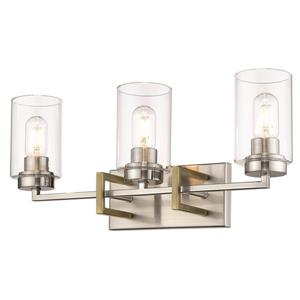 Tribeca 3-Light Vanity Light - Pewter