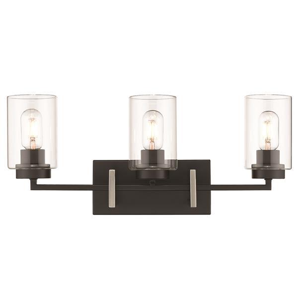 Golden Lighting Tribeca 3-Light Bathroom Vanity Light - Black