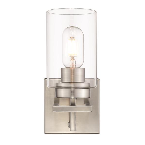 Golden Lighting Tribeca 1-Light Bathroom Vanity Light - Pewter
