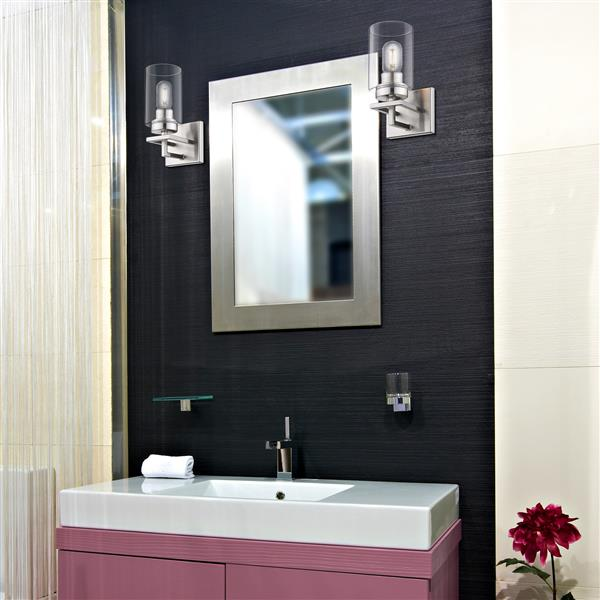 Golden Lighting Tribeca 1-Light Bathroom Vanity Light - Pewter