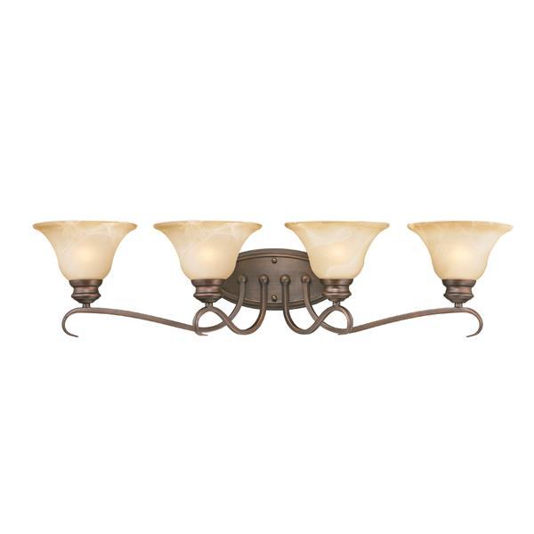 Golden Lighting Lancaster 4-Light Bathroom Vanity Light - Rubbed Bronze