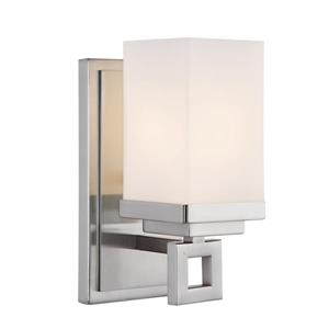 Golden Lighting Nelio 1-Light Bathroom Vanity Light - Pewter