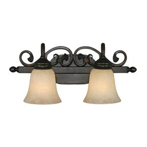 Belle Meade 2-Light Vanity Light - Rubbed Bronze