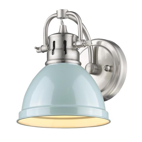 Golden Lighting Duncan 1-Light Bathroom Vanity Light - Pewter