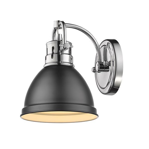 Golden Lighting Duncan 1-Light Vanity Light - Chrome