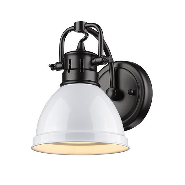 Duncan 1-Light Bathroom Vanity Light - Black