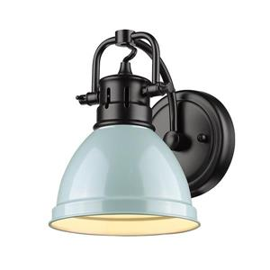Duncan 1-Light Bathroom Vanity Light - Black