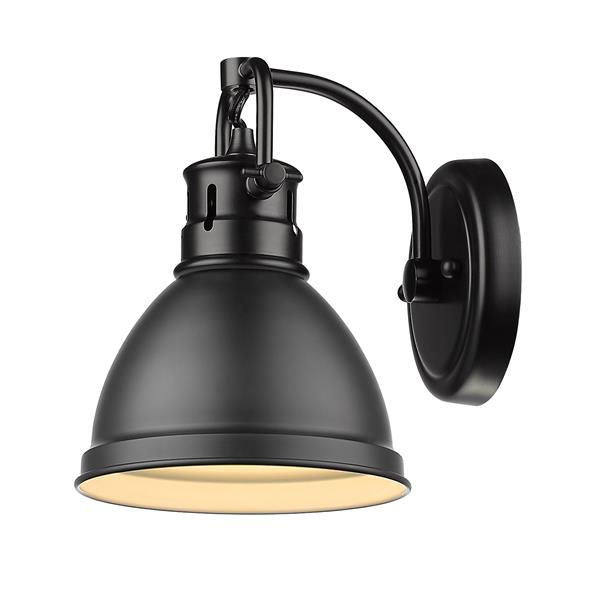 Golden Lighting Duncan 1-Light Bathroom Vanity Light - Black