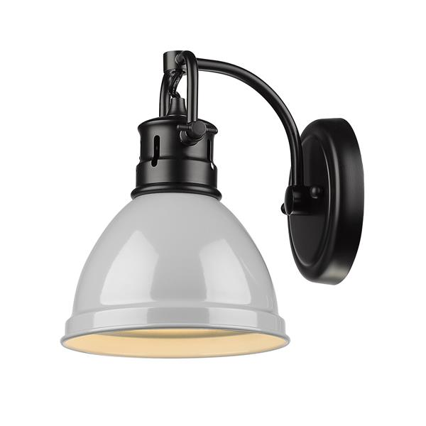 Golden Lighting Duncan 1-Light Bathroom Vanity Light - Black