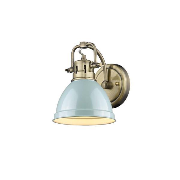 Golden Lighting Duncan 1-Light Bathroom Vanity Light - Aged Brass