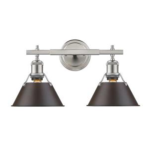 Orwell PW 2-Light Vanity Light - Pewter