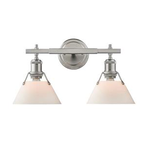 Orwell PW 2-Light Vanity Bathroomin Light - Pewter