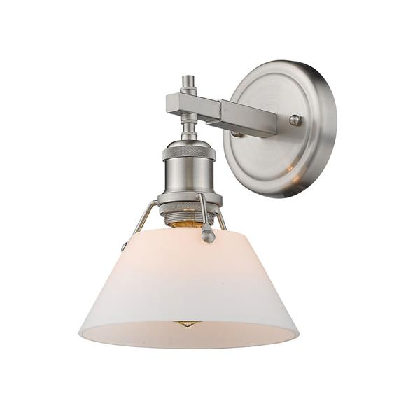 Golden Lighting Orwell PW 1-Light Vanity Light - Pewter