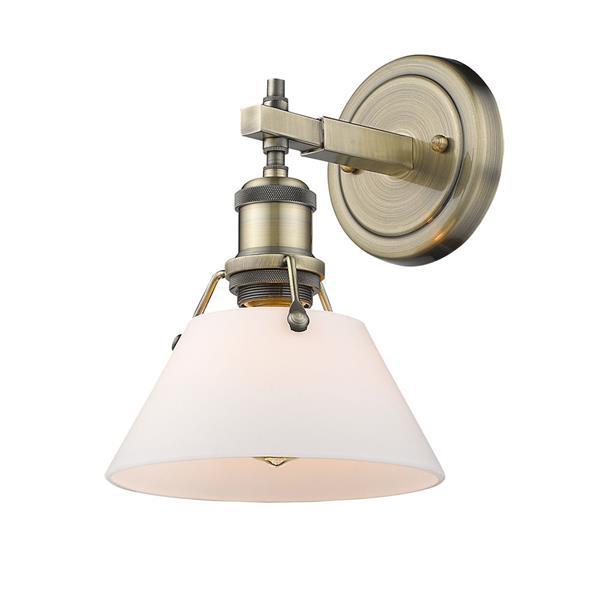 Golden Lighting Orwell AB 1-Light Vanity Light - Aged Brass