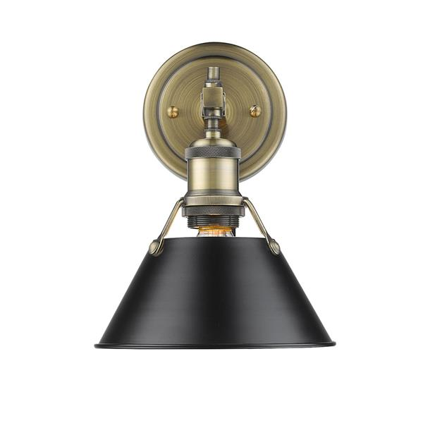 Golden Lighting Orwell AB 1-Light Bathroom Vanity - Aged Brass/Black