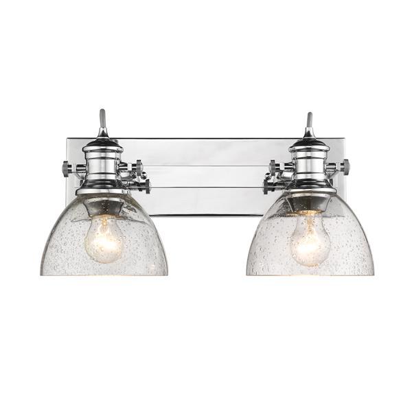 Golden Lighting Hines 2-Light Bathroom Vanity Light  - Chrome
