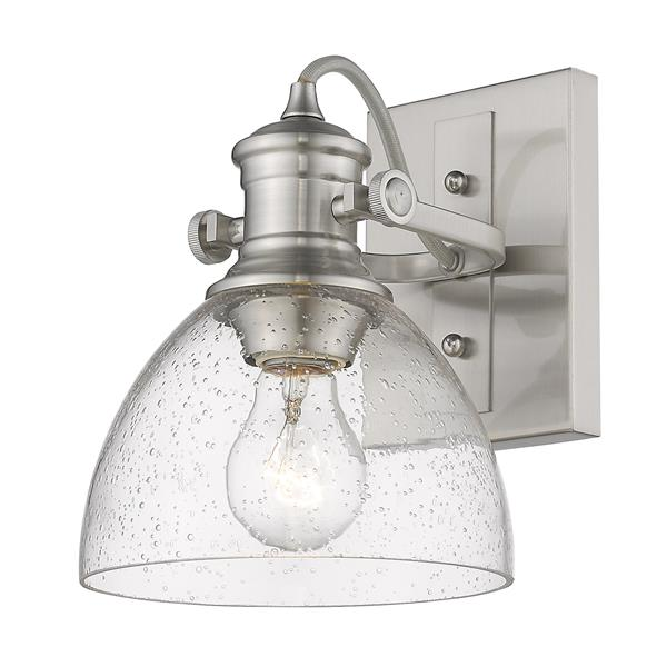 Golden Lighting Hines 1-Light Bathroom Vanity Light - Pewter