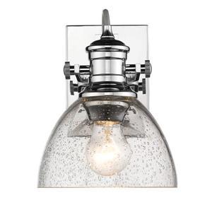 Golden Lighting Hines 1-Light Bathroom Vanity Light - Chrome