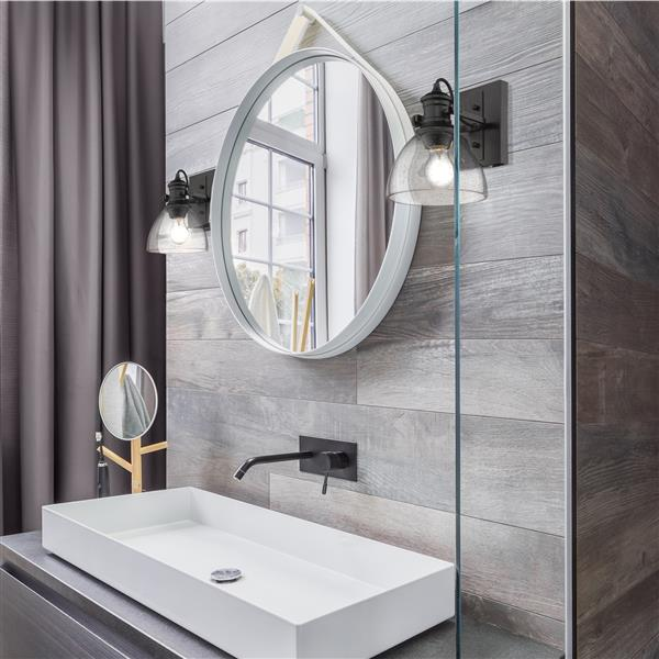 Golden Lighting Hines 1-Light Bathroom Vanity Light - Black