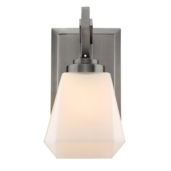 Golden Lighting Hollis 1-Light Bathroom Vanity Light - Aged Steel