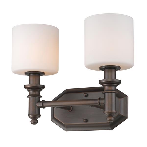 Golden Lighting Beckford 2-Light Vanity Light - Rubbed Bronze