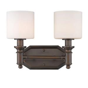 Golden Lighting Beckford 2-Light Vanity Light - Rubbed Bronze