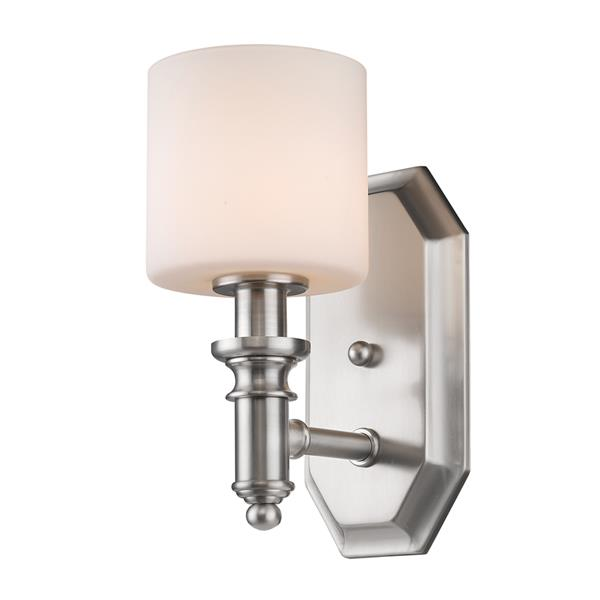 Golden Lighting Beckford 1-Light Bathroom Vanity Light - Pewter