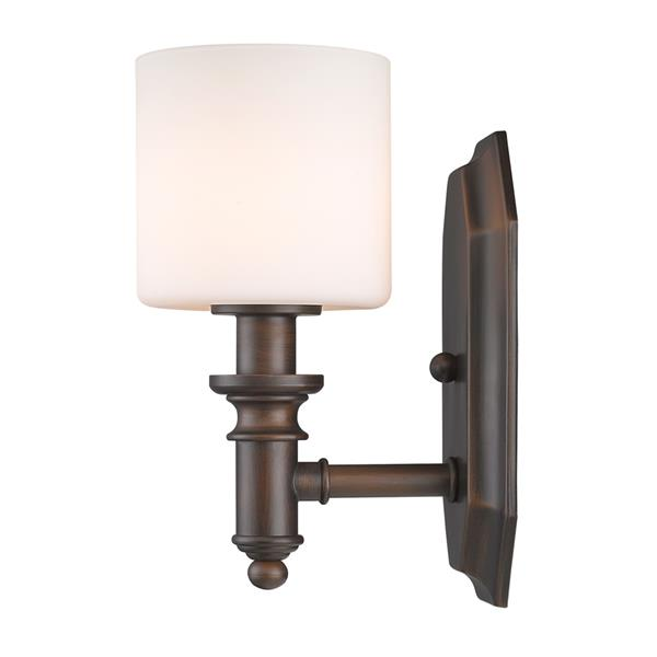 Golden Lighting Beckford 1-Light Vanity Light - Rubbed Bronze