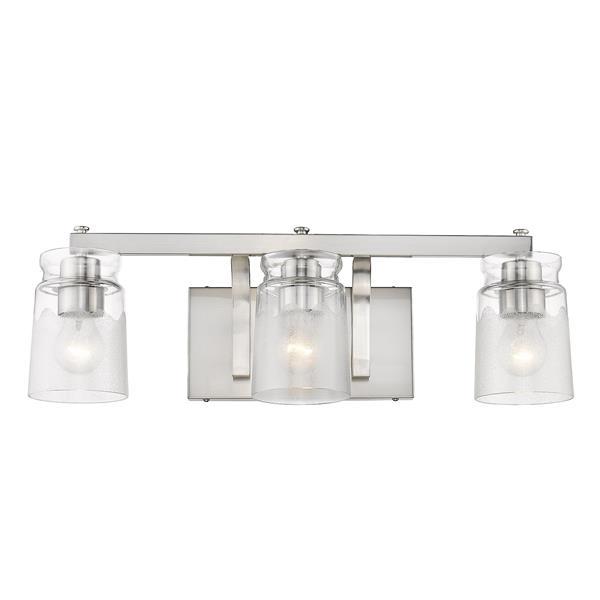 Golden Lighting Travers PW 3-Light Bathroom Vanity Light - Pewter