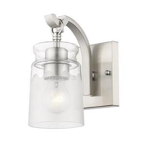 Golden Lighting Travers PW 1-Light Bathroom Vanity Light - Pewter