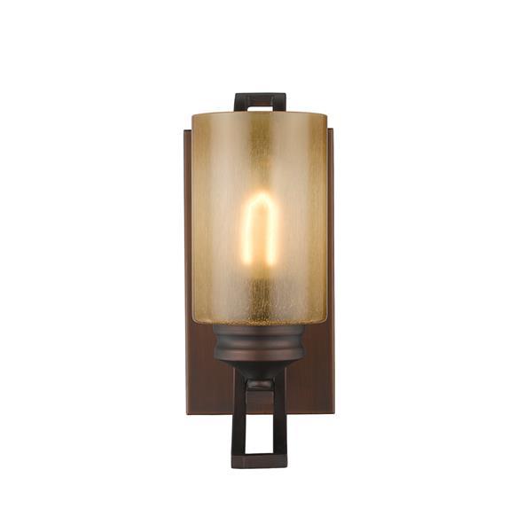 Golden Lighting Hidalgo 1 Light Vanity Light - Sovereign Bronze