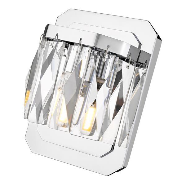 Golden Lighting Krysta 1-Light LED Vanity Light - Chrome