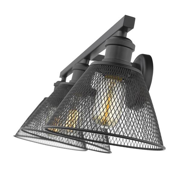 Golden Lighting Carver 3-Light Bathroom Vanity Light - Black