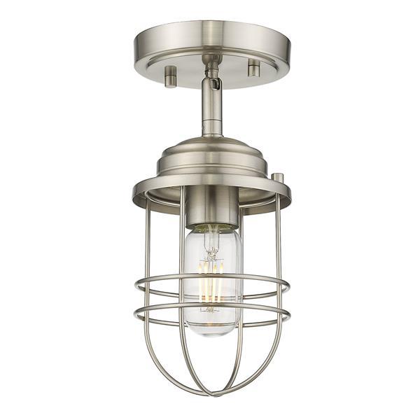 Golden Lighting Seaport Semi-Flush Light - Silver