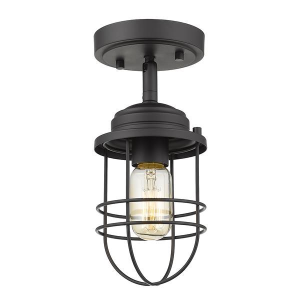 Golden Lighting Seaport Semi-Flush Light - Black