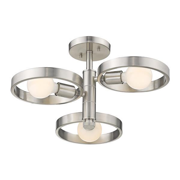 Golden Lighting Sloane 3-Light Semi-Flush Light - Pewter