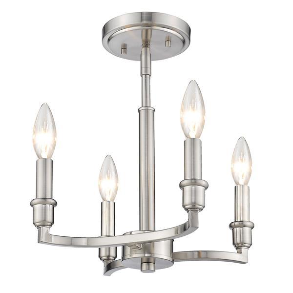 Golden Lighting Ellyn Semi-Flush Light - Pewter