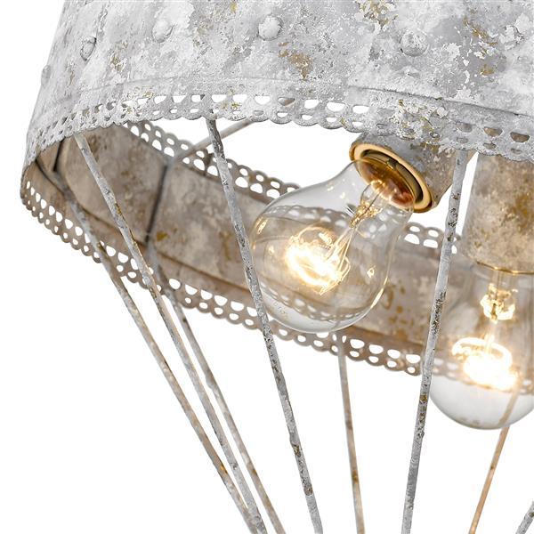 Golden Lighting Ferris Semi-Flush Light - Oyster