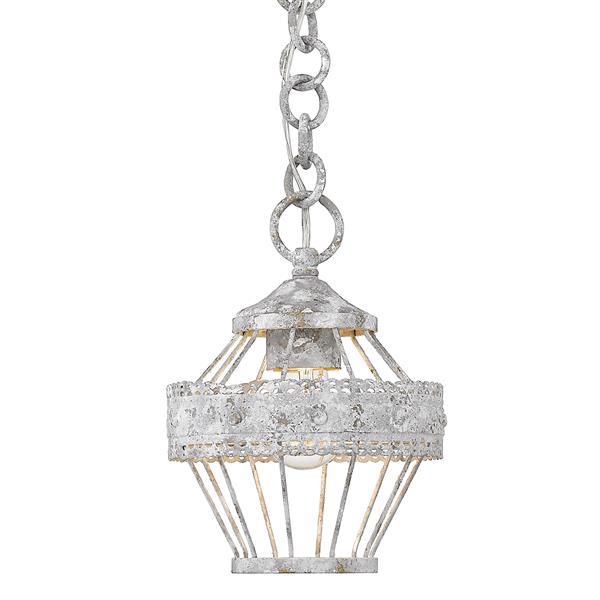 Golden Lighting Ferris 1-Light Mini Semi-Flushmount Light - Oyster