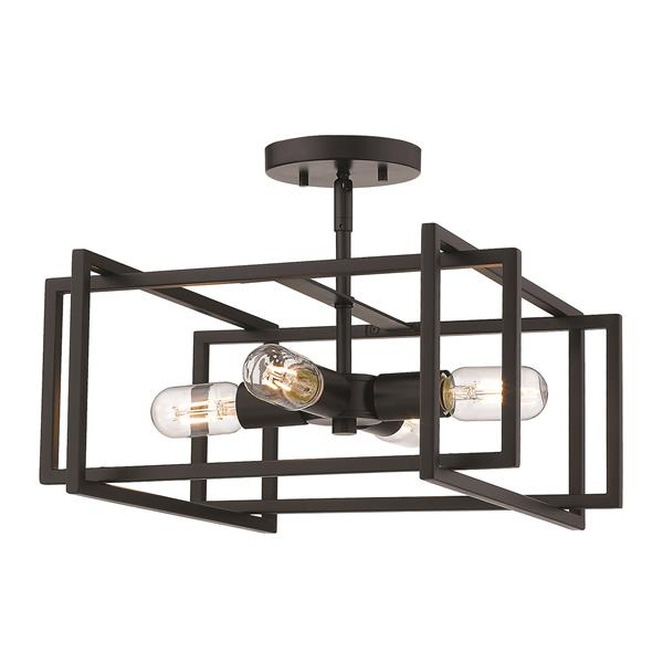 Golden Lighting Tribeca Semi-Flush Light - Black