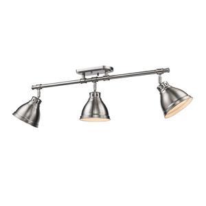 Golden Lighting Duncan 3-Light Semi-Flush Light - Pewter