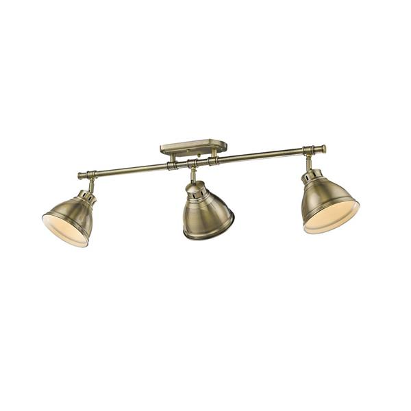 Golden Lighting Duncan 3-Light Semi-Flush Light - Aged Brass