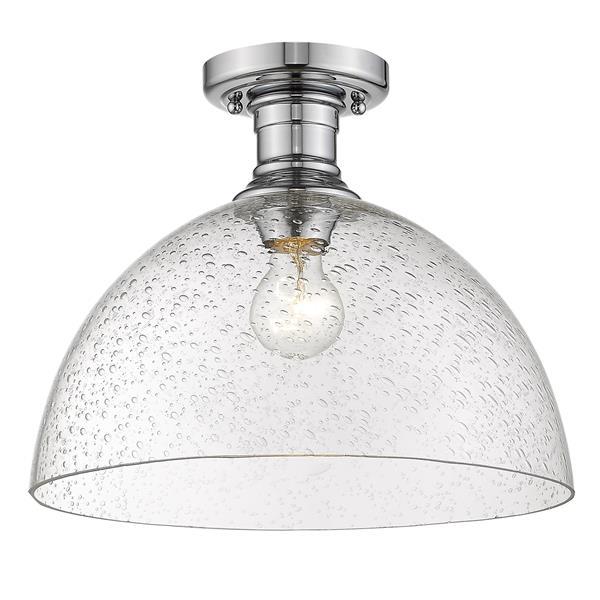 """Golden Lighting Hines Semi-Flush Light - 14"""" - Chrome"""